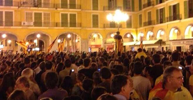 La Vía Catalana congrega a más de 4000 personas en el centro de Palma