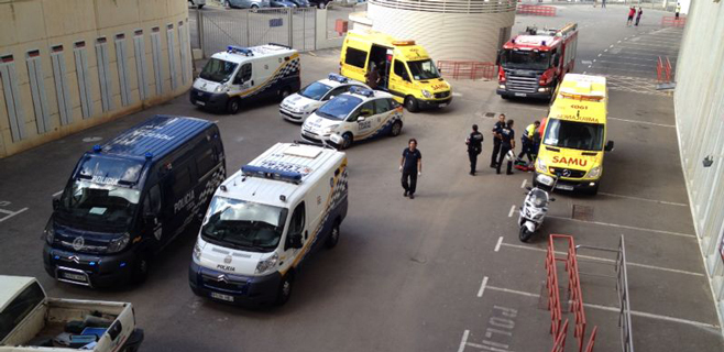 Un grave accidente laboral en Son Moix precede al España-Bielorrusia de hoy