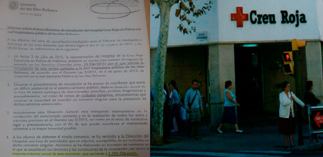 El IB-Salut rebaja a la mitad la aportación del Govern a la Creu Roja
