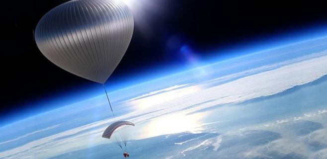 Una empresa ofrece subir en globo hasta la estratosfera