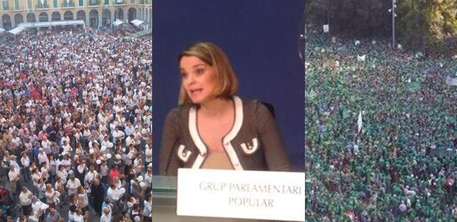 El PP no compara la asistencia a las dos manifestaciones sobre el TIL