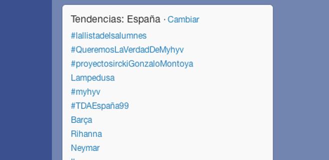 #lallistadelsalumnes encabeza los Trending Topics en España