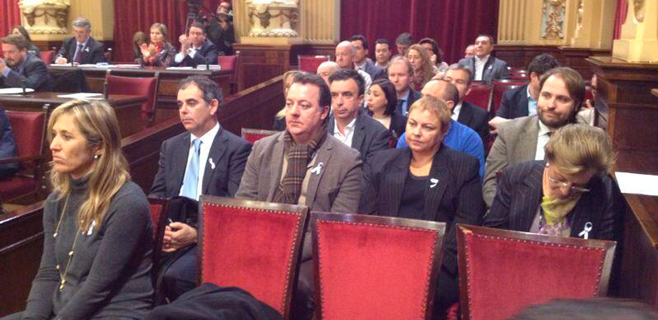 Los alcaldes del PP, cuadrados junto al líder