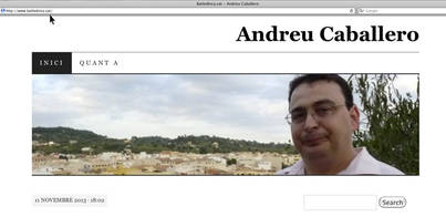 Caballero quiere ser alcalde en internet