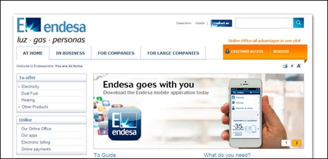 www.endesaonline.com ya está en inglés