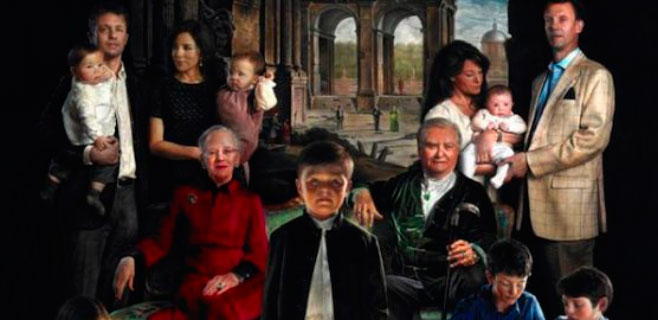 El retrato de la familia real danesa incendia el país