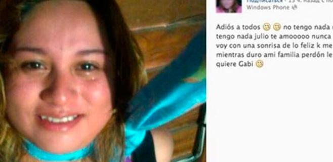 Una joven cuelga su foto en Facebook antes de suicidarse