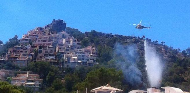 El causante del grave incendio de la Serra seguirá en libertad con cargos