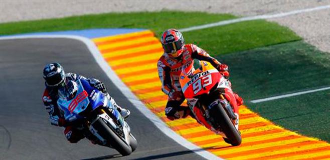 Lorenzo gana la carrera y Márquez el mundial