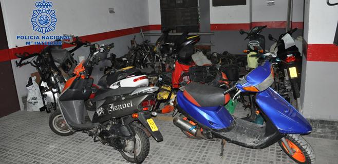 Desarticulada en Mallorca una banda dedicada al robo de ciclomotores