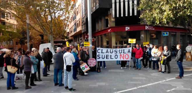Protesta contra las cláusulas suelo