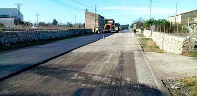 Comienza el asfaltado de la carretera vella de Sineu