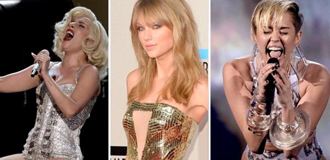 Swift, Gaga y Cyrus iluminan los American Music Awards