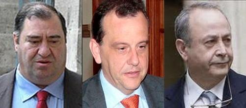 Fiscalía ha interrogado a Matas, Villar y Pérez con pruebas y no con indicios