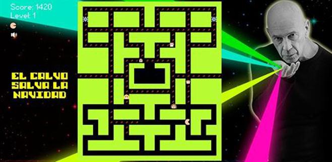 El calvo de la Navidad reaparece como Pac-Man