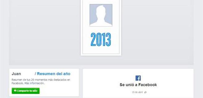 Facebook ya permite ver el resumen personal del año