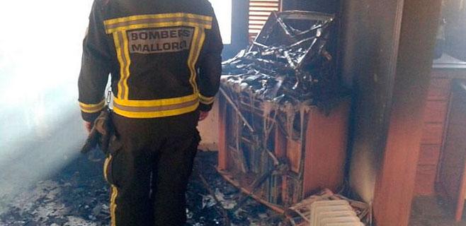 Herido por quemaduras un hombre tras incendiarse su vivienda en Inca