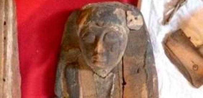 Se busca dinero para restaurar una momia hallada en la basura