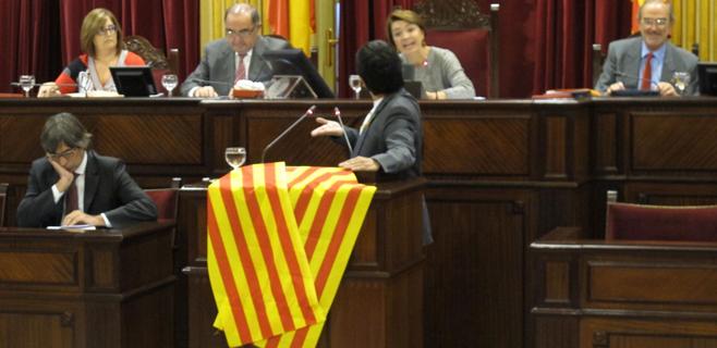 PP y PSIB-PSOE acuerdan prohibir la muestra de símbolos en el Parlament