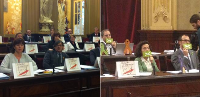 Bronca de despedida en el Parlament por la aprobación de la ley de Símbolos