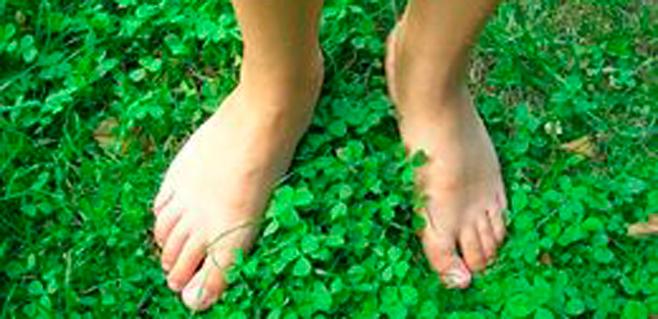 Con calcetines de materiales naturales, pies sanos