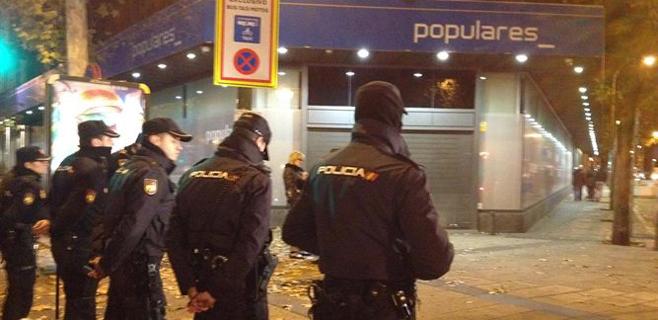La Policía registra la sede del PP en Génova