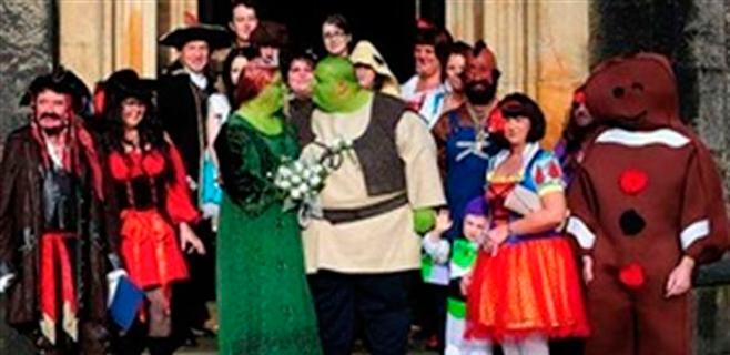 Shrek y Fiona se casan