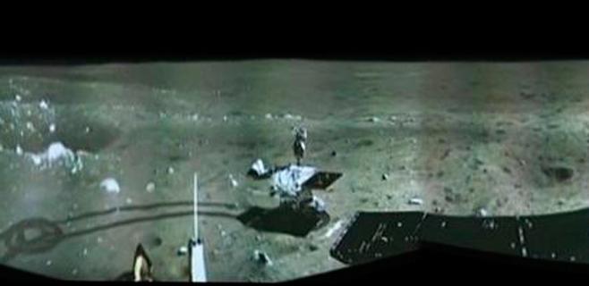 La sonda China en la Luna envía su primera imagen