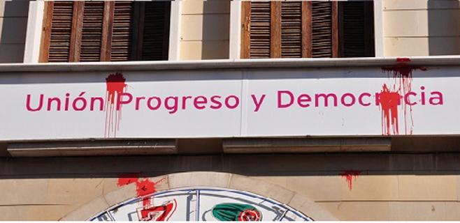 Ataque con pintura a la sede de UPyD en Palma