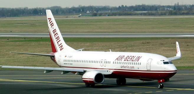 Air Berlin empieza el año con descenso de pasajeros pese a una mayor oferta