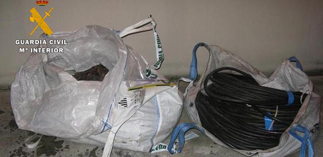 4 detenidos por robar 2,5 toneladas de cobre en varios puntos de Mallorca