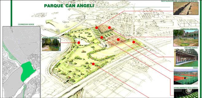 El proyecto de parque público de Can Angelí no tiene la firma de los técnicos