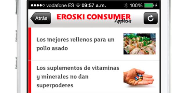 Eroski lanza una app para ojear sus artículos