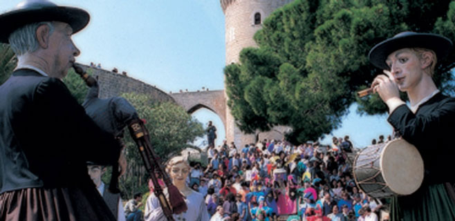 La lluvia obliga a aplazar los actos en el exterior del Castillo de Bellver