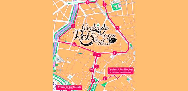 Los Reyes Magos recorrerán 3,2 kilómetros de avenidas anchas