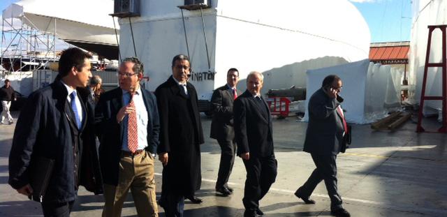 El ministro marroquí, en las instalaciones náuticas