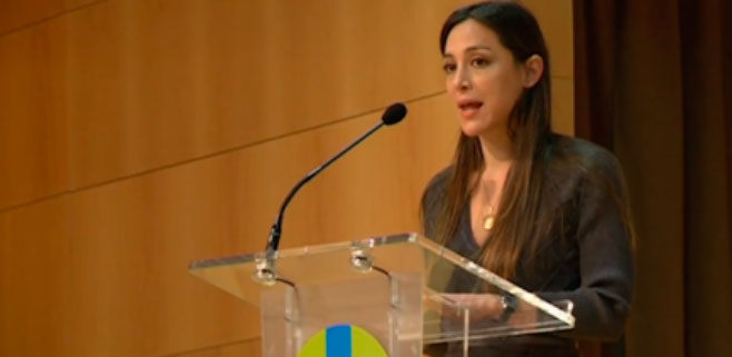 Tamara Falcó da un discurso religioso a jóvenes universitarios