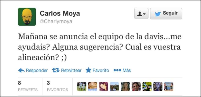 Moyà pide ayuda para hacer el equipo de la Davis
