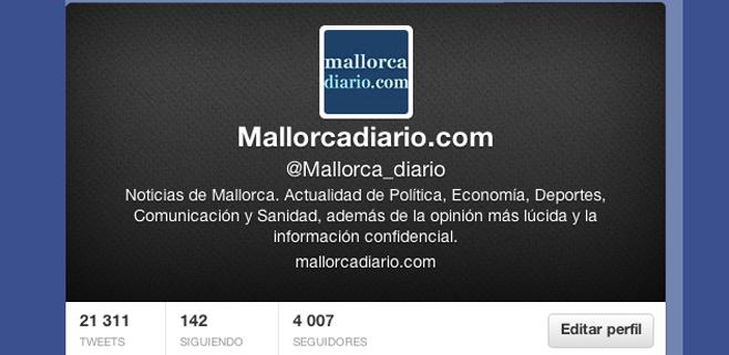 mallorcadiario.com alcanza los 4.000 seguidores en Twitter