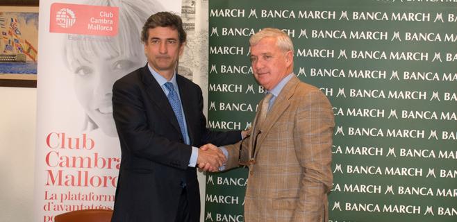 Banca March financiará iniciativas de la Cámara de Comercio