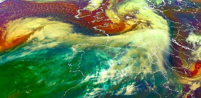 Una nueva ciclogénesis explosiva lanzará fuertes vientos hacia Balears