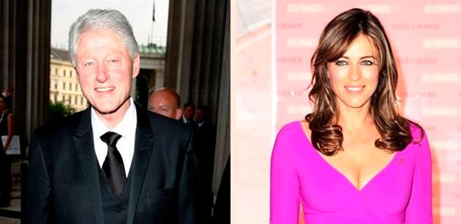 Elizabeth Hurley niega su romance con Clinton