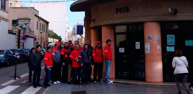 Trabajadores de Coca-Cola en Palma