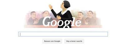 Clara Campoamor en doodle
