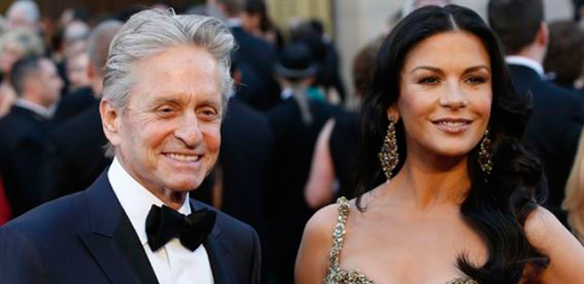 Michael Douglas y Catherine Zeta-Jones renuevan votos