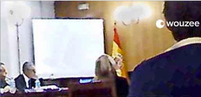 La Policía reconstruye la grabación de la infanta durante su declaración