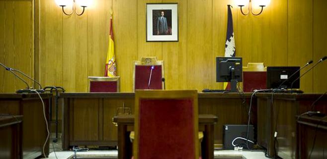 La Policía recrea la sala del juzgado donde declaró la infanta Cristina