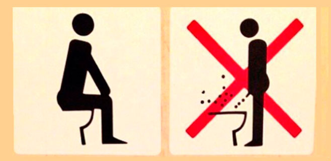 Prohibido orinar de pie en Sochi