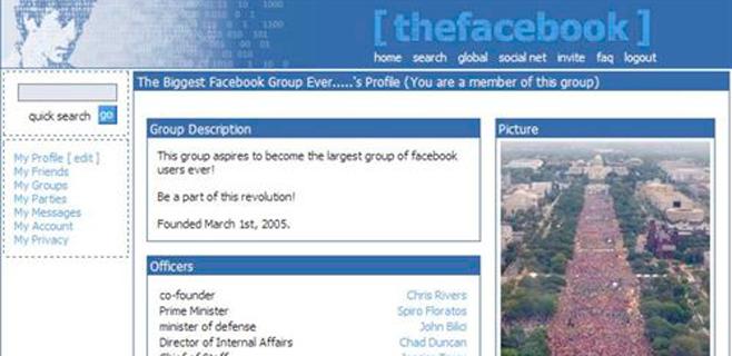 Así era The Facebook en 2004