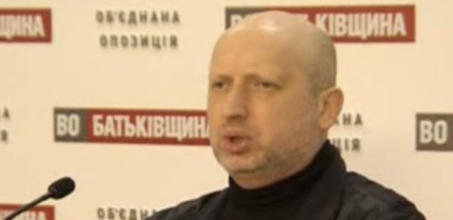 Turchinov, presidente en funciones de Ucrania